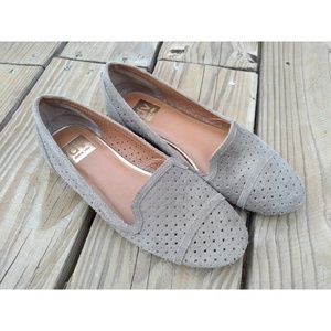 Dolce Vita Suede Leather Cutout Perforated Flats